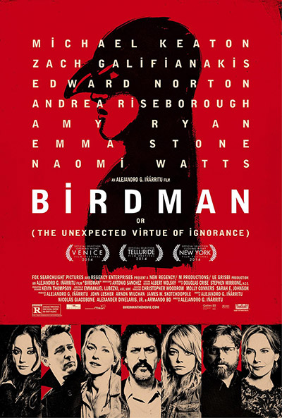 电影《鸟人》海报,亚利桑德罗·冈萨雷斯·伊纳里多执导