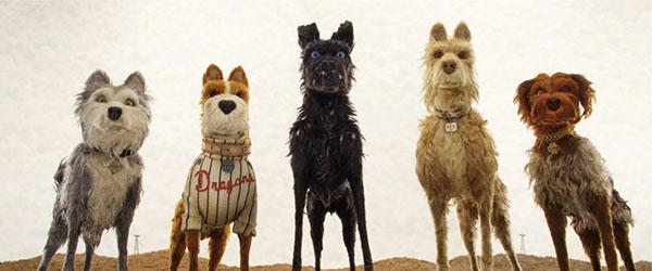 《犬之岛》中无表情的五只主角